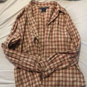 Polo sport flannel top